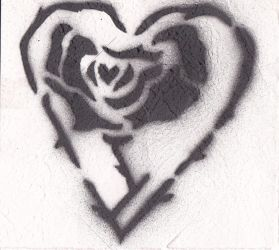 Heart Rose Stencil by LACHLA