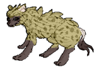Pixel Spotted Hyena (Bigger ver.) by CrimsonVampiress