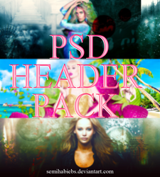 PSD HEADER PACK [CLOSED] by SemihaBiebs