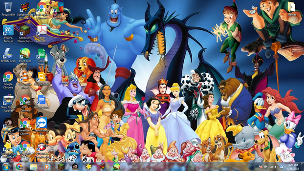 Windows 7 Desktop: Disney Cartoons by jcpag2010