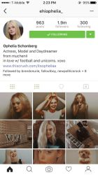 Ophelia Schonberg  IG Fake Profile   by DaisyChan55