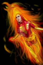 Dark Phoenix photo edit by sweetchorizo