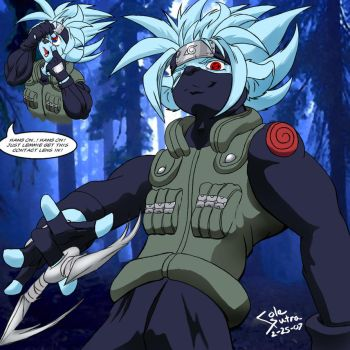 Cole cosplaying as Kakashi by colesutra