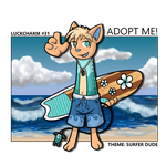 (CLOSED) Luckcharm Auction: Surfer Dude by Nuperjo