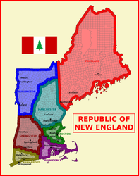 Map of Republic of New England by matritum