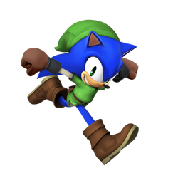 Smash 4 Link Sonic Render (2017) by JoeTEStrikesBack
