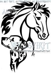 Horse And Dalmatian Tattoo by WildSpiritWolf