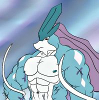 Suicune Beefcake by GoldPaladinSevlow