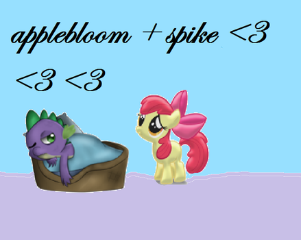 APPLEBLOOM and  SPIKE by crazycartoonful