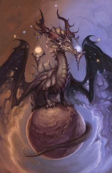 Zodiac  Dragon . Libra by The-SixthLeafClover