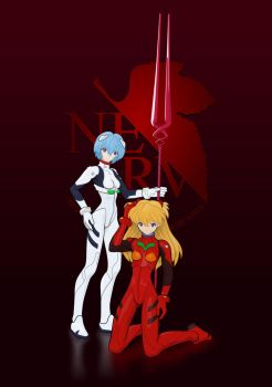 Rei and Asuka by halley