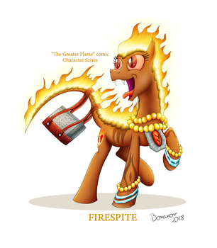 Fire Ponies of Equestria #1: Firespite by Caustizer