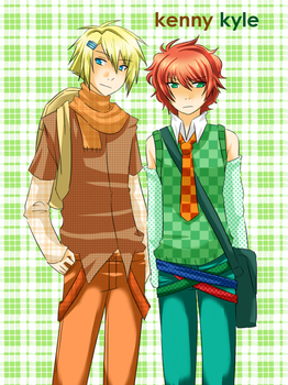 Kenny and Kyle by azngirlLH