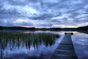 Blue Moment by the Lake by Pajunen