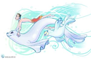 Justin's Water Pokemon - Dewgong and Seel