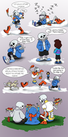 Skeleton Brothers by AbsoluteDream
