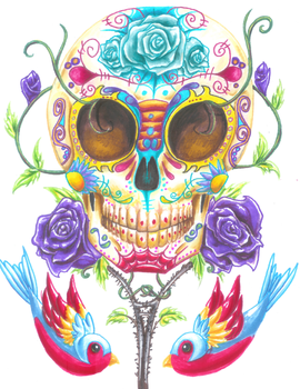Day Of The Dead by CuteKillerDog