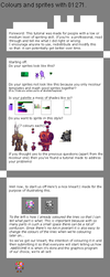 colour usage and selection in pixelart tutorial by 01271