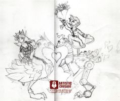 wow valentine sketch by ArtisticCrusade