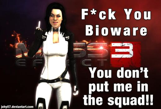 Miranda is angry with Mass Effect 3 by jehy07
