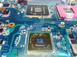 Notebook motherboard (Sony) by attilasebo