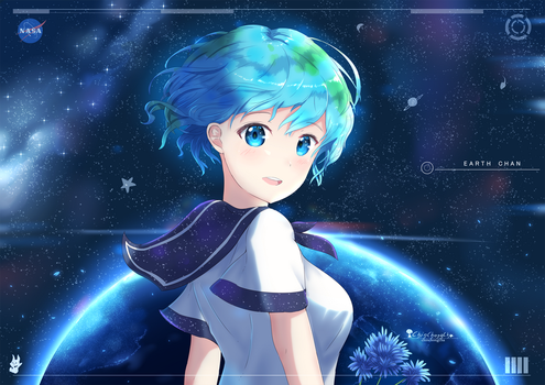 Earth-chan by chinchongcha