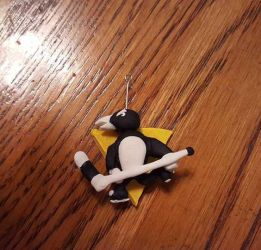 Pittsburgh Penguin Charm by Momocchee