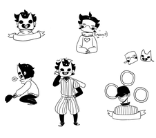 Zacharie sketches by gh0stbun