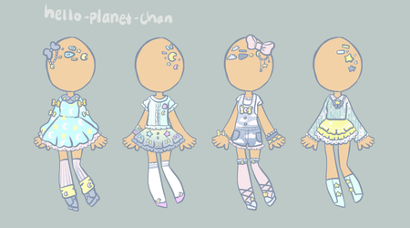 [outfit set] - by-MK [1/2] by hello-planet-chan