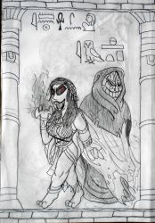 THE WITCH AND THE PRIEST - Ankhesenamu and Imhotep by DiamondheadMan