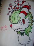 Hollidie The Christmas Wolf by Kyrifian