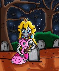 zombie peach by ninpeachlover