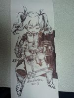 Etrian Odyssey Fortress pen sketch by HomunculusLover