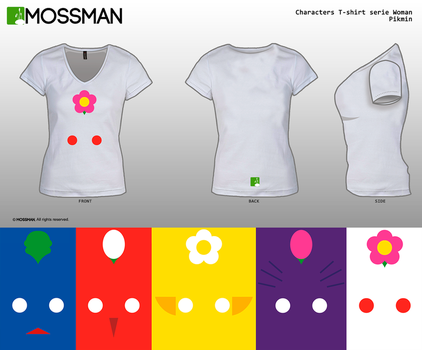 Characters T-shirt serie Woman - Pikmin by Mrmossman