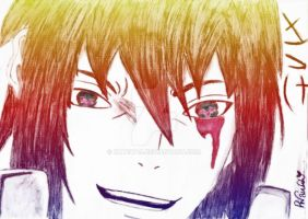Rainbow Sasuke by KateW49