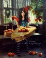 Snow White and the big apple by CindysArt