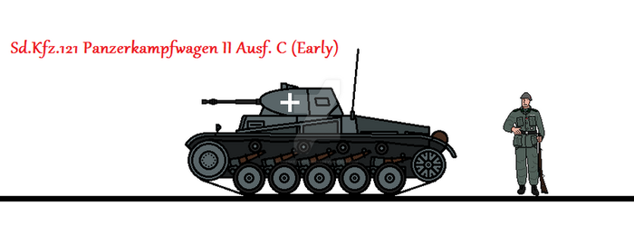 Sd.Kfz. 121 Panzerkampfwagen II Ausf. C (Early) by thesketchydude13