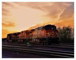 BNSF At Sunset by erbphotography