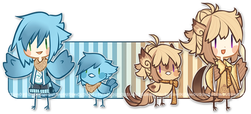 Bird People Adoptable - closed by Mousu