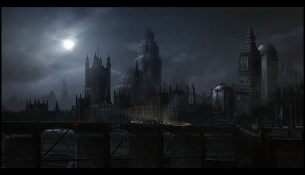 London 2063 after midnight by Grivetart