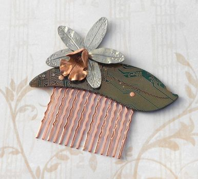 tropical pointer orchid comb by thebluekraken