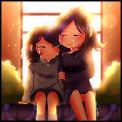 [Glitchtale] Jessica and her daughter by Chinny-FlareySnowzz