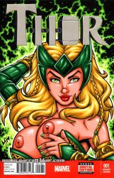 Naughty Enchantress bust sketch cover by gb2k