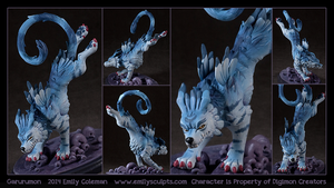 Garurumon by emilySculpts