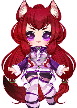 Kasai - Blinking Cutie Commission by clover-teapot