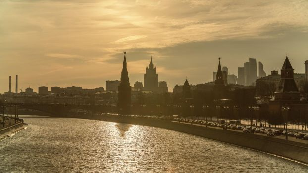 Spring evening Moscow, the Kremlin by fly10