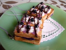 Blueberry Puff Pastry Bars by kawaiifriendscafe