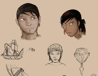 Misc. Concept Sketches by RealBigNUKE