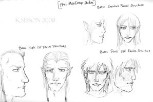 FPoL: Species Facial Sketches by The-Diet-Elf