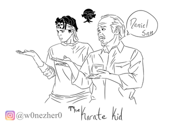 The Karate Kid - sketch - by Bonezkd